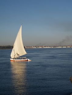 A Felucca on the Nile at Kom-Ombo[shared]