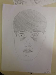 Self Portrait Progress 1/16/14 James O. 4A