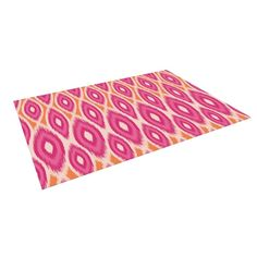 KESS InHouse Amanda Lane Pink and Orange Moroccan Magenta Tangerine Outdoor Patio Rug (4' x 5') - 19186139 - Overstock.com Shopping - Great Deals on 3x5 - 4x6 Rugs