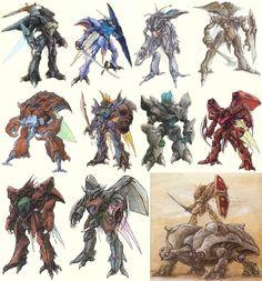 Aura Battler Dunbine: The Wings of Rean Super Robot Taisen, Manga Anime, Robot Sketch, Robots Drawing, Cool Robots, My Fantasy World, Robot Design, Mechanical Design, Stuff And Thangs