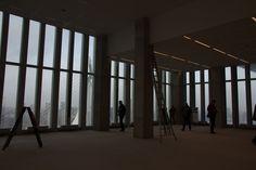 Erasmusbrug zichtbaar van de 9e etage 'office' kant