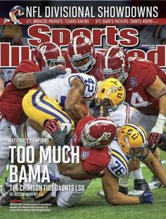 Alabama football has been the cover of countless Sports Illustrated. How many Alabama women's sports have been on it? Crimson Tide Football, Alabama Football, Alabama Crimson Tide, College Football, Football Team, Fanatic Football, Football Quotes, Championship Game, National Championship