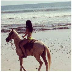 Horseback riding on the beach. Kylie Jenner Instagram, Kendall Jenner, Nude Beach, Baja California, Horseback Riding, Daydream, Horses, Adventure, Pets