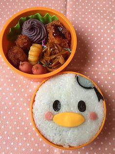 Cute Donald Duck DIsney tsum tsum inspired bento box