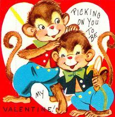Monkeys Picking on You To Be My Valentine