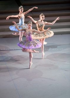 Sleeping Beauty at Mikhailovsky Theater, Pas de trois pour la Fées d'Or, d'Argent et de Saphir  by Nikolay Krusser.