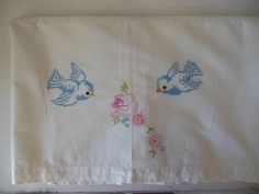 Vintage Bluebird Cross Stitch and Embroidery. $14.00, via Etsy.