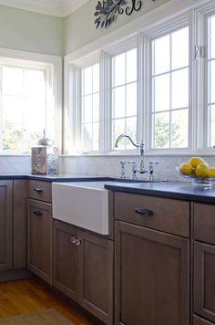 Kitchen Cove Design Co. Small Kitchen Redo, Kitchen Trends, Kitchen Ideas, Farm Sink, Kitchen Cabinetry, Floating Shelves, Kitchen Design, Remodeling Ideas, Kitchen Remodeling
