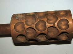 Antique Authentic Brass HEART shape Hard Candy Making Roller Mold | #286618736