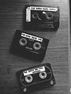 Mix Tapes. Today this would be more like an iTunes/Spotify list. Still, it really works out to have these