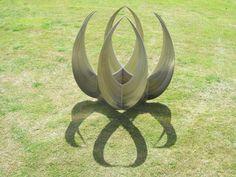 Modern outdoor steel sculpture by Pete Moorhouse
