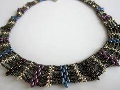 ▶ Superduo Beaded Necklace. Колье из бисера - YouTube