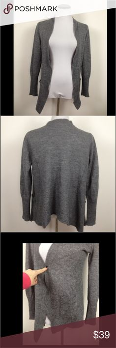 J Crew alpaca wool wrap sweater cardigan Great J Crew alpaca blend open cardi with two front pockets and no closures for a simple fall wrap. Warm but lightweight. Size medium. Smoke free home! J. Crew Sweaters Cardigans