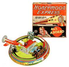Marx, Honeymoon Express w/Airplane (Factory Sample)
