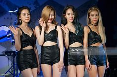 Members of South Korean girl group Wonder Girls attend the press showcase for their Third Album 'ReBoot' on August 3, 2015 in Seoul, South Korea.