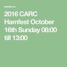 2016 CARC Hamfest October 16th Sunday 08:00 till 13:00