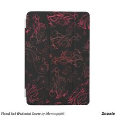 Floral Red iPad mini Cover