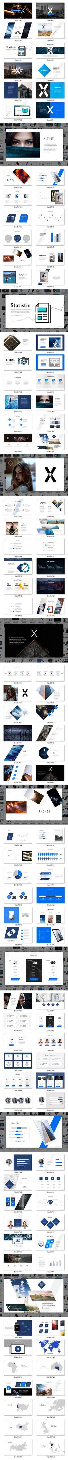 X10 - Business PowerPoint Template - 111+ Unique Multipurpose Slides