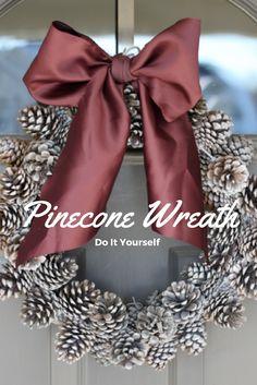 do it yourself divas: DIY: Pinecone Wreath (Practically FREE)