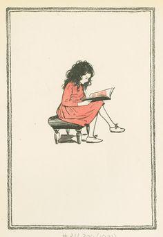 Heidi reading - Jessie Willcox Smith