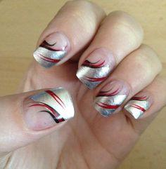 Holiday nails 2013! Funky Nails, Cute Nails, Pretty Nails, Creative Nail Designs, Creative Nails, Holiday Nails, Christmas Nails, Fingernails Painted, Nails 2014