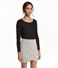 Jerseyshirt   Schwarz   Damen   H&M DE