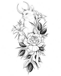 Chic small cat tattoos design ideas for elegant lady Chic, small cat tattoos d. - Chic small cat tattoos design ideas for elegant lady Chic, small cat tattoos d… Chic small cats Ta - Tattoo Sketches, Tattoo Drawings, Body Art Tattoos, Small Tattoos, Sleeve Tattoos, Cool Tattoos, Tattoo Cat, Tatoos, Awesome Tattoos