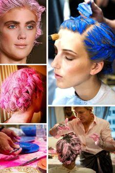 Organic clay to temporarily dye hair - Thakoon spring 2012