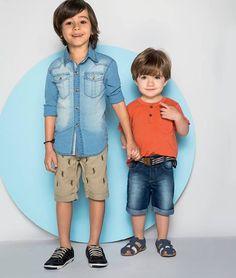 Fofura em dose dupla! rs  ❤️ #foto #kids #modelomirim #look #looktop #lookoftheday #fashionkids #fashionboys #verão #happy #love #cute #style #fashion #cute #cutekids #model #me
