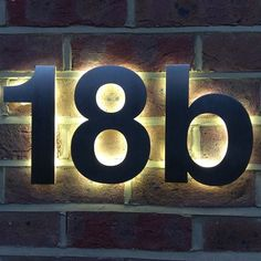 Helvetica Illuminated House Numbers