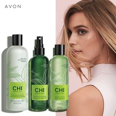 Avon partnered with professional hair care leader CHI to bring you a unique blend of certified organic botanicals that include aloe vera, pomegranate, hibiscus and other nutrient-rich ingredients for healthy-looking hair. Chi Hair Products, Avon Products, Beauty Products, Hair Essentials, Hair Locks, Avon Online, Avon Representative, Facial Oil, Great Hair