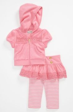 Roxy Hoodie & Skirted Leggings (Infant) | Nordstrom