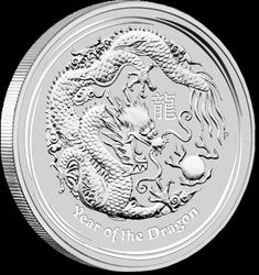 2012 1 oz Silver Perth Mint Year of the Dragon Coin Silver Coins For Sale, Gold And Silver Coins, Silver Bars, Bullion Coins, Silver Bullion, Perth, Canadian Coins, Valuable Coins, Year Of The Dragon