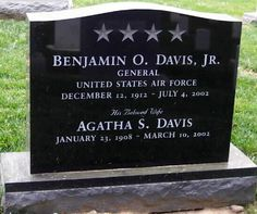 Gen Benjamin Oliver Davis, Jr (1912 - 2002) Leader of the Tuskegee Airmen in World War II, later he was the first black general in the US Air Force