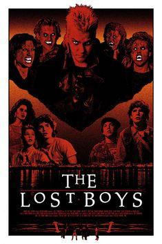 """""""The Lost Boys"""" by Lastleaf Printing. 24″ x 36″ 3-color Screenprint. Ed of 50 S/N."""