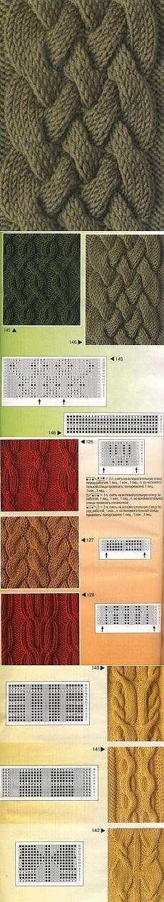 Подборка узоров с косами спицами. Схемы вязания узоров | Домоводство для всей семьи