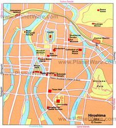 Mapa de Hiroshima