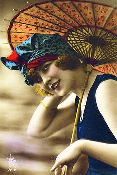 Flapper Fashion – 49 Incredible Colorized Postcards of Cool Girls in Swimsuits during the ~ vintage everyday Antique Photos, Vintage Pictures, Vintage Photographs, Vintage Images, Old Photos, Flapper Era, Flapper Style, Flapper Fashion, Fashion 1920s