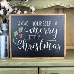 Items similar to Have Yourself A Merry Little Christmas~Merry Christmas Sign~Christmas Sign~Christmas Wall Art~Christmas Wood Sign~Winter Decor on Etsy Merry Christmas Frame, Christmas Wooden Signs, Merry Christmas Calligraphy, Christmas Wall Art, Christmas Chalkboard, 3d Christmas, Merry Little Christmas, Christmas Projects, Christmas Decorations
