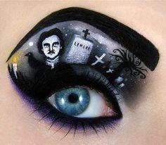 maquillaje de ojos de Edgar Allan Poe