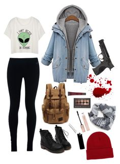 """Street Kid in Gotham."" by mettathegreat on Polyvore featuring NIKE, NLY Accessories, Burke Decor, Forever 21, Lane Bryant and Smith & Wesson"