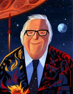 RIP Ray Bradbury (by Pixar artist Lou Romano) - I still remember THE FOG HORN decades later