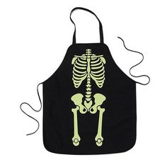 Skeleton Glow-In-The-Dark Apron Funny bones! Get your skeletons out of the closet and show off your scary good baking skills! Also, casts a ghoulish glow in the dark. AvonRep shirlean walker