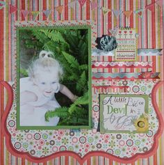 Gorgeous Spring Scrapbook layout!