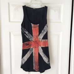 Chic Patterned Tank Top Chic England Flag tank top, high quality brand, soft and comfortable material. No size label but would fit a size small.                 25% OFF BUNDLES Urban Outfitters Tops Tank Tops