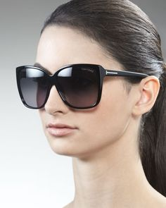 Another possible replacement pair - love these - Lydia Sunglasses, Black by Tom Ford at Neiman Marcus $395