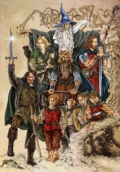 The Lord of the Rings: The Fellowship of The Ring - O Senhor dos Anéis: A Sociedade do Anel Legolas, Aragorn, Lord Of Rings, Fellowship Of The Ring, The Lord Of The Rings, Arte Nerd, O Hobbit, Bilbo Baggins, Weeping Angels