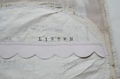 """white on white """"Art Quilting :: Easy Silence"""" Jenny Doh"""