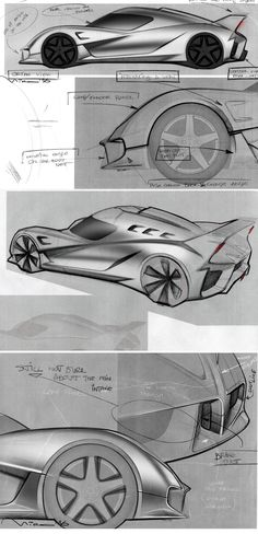 exterior design tweaks as we go along with the 3D Alias Model. #exterior #cardesign #sketches #alias