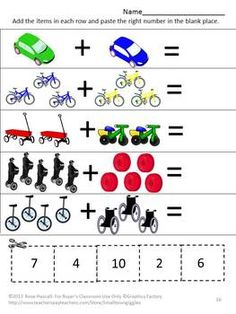 math worksheet : back to school cut and paste p kkspecial education autism  cut  : Special Education Math Worksheets